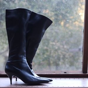 Via Spiga Tall Boot Size 10 Black Leather